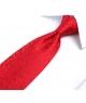 Coffret Manchester - Cravate rouge à motif floral ton sur ton