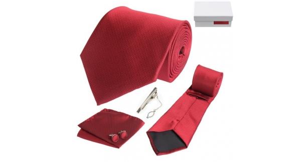 Coffret Monaco - Cravate rouge