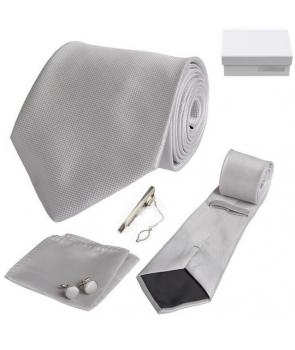 Coffret Ribeirão Preto - Cravate gris clair
