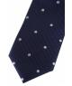 Coffret Bangkok - Cravate slim bleu marine à pois blancs