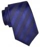 Coffret Oslo - Cravate bleu lavande avec rayures bleu-violet et petits carrés blancs